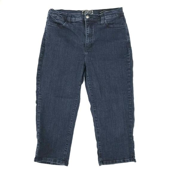 NYDJ Denim - NYDJ Cropped Capri Pants Jeans Sz 12 Stretch Dark